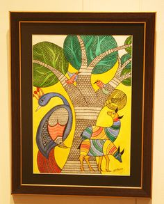 Madhubani and Gond Art on Behance Phad Painting, Worli Painting, Fabric Painting, Buddha Kunst, Buddha Art, Pichwai Paintings, Indian Art Paintings, Abstract Paintings, Madhubani Art