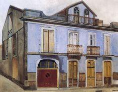 casa_de_la_guardia_amalia_avia Spanish Painters, Paintings I Love, Home Art, Landscape, Houses, Google, Journal Art, Realistic Paintings, Contemporary Paintings