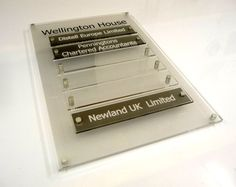 Directory Board with changeable Company Name Plates