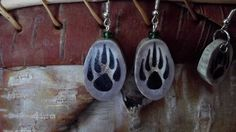 Paws and Not Paws Deer Horn Earrings For You by OlBillzStuff