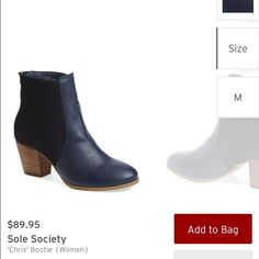 Sole Society BLACK booties Size 7. Black, the blue is pictured. Never been worn. If seriously interested, I will post more pics. Sole Society Shoes Ankle Boots & Booties