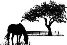 Sticker cheval qui paît :  Une déco champêtre sur le thème de la Nature et des chevaux : paysage de prairie. #cheval #chevaux #stickers #décoration #déco #bucolique Prado, Landscape Silhouette, Deco Stickers, Deco Champetre, Deco Nature, Les Themes, Decoration, Art Projects, Moose Art