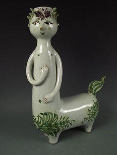 1961 Lrg Bjorn Wiinblad Denmark Danmark Pottery Centaur Candle Holder Figurine | eBay