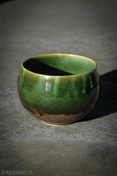Green tea bowl from KERAMISTA, so nice for Chinese tea http://keramista.com/products/9262620