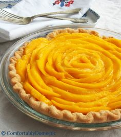Mango cream pie is a silky sweet dessert made with ripe mangoes and fresh pastry cream, baked into a flaky pastry crust. Get the delicious recipe here!