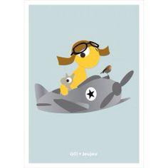 Poster Airplane @ ollienjeujeu.com