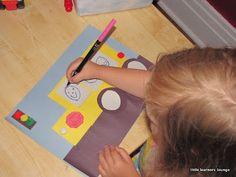 Make a shape bus in preschool!