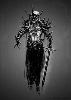 Shadow Knight by AustenMengler on DeviantArt Gothic Horror, Gothic Art, Fantasy Figures, Fantasy Characters, Mythological Creatures, Fantasy Creatures, Dark Fantasy Art, Dark Art, Fantasy Character Design