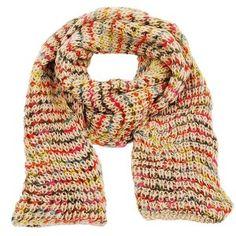 Beige Mix Chunky Knit Scarf