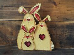 Valentine Spring Bunny Rabbit Family – The Laughing Cabin