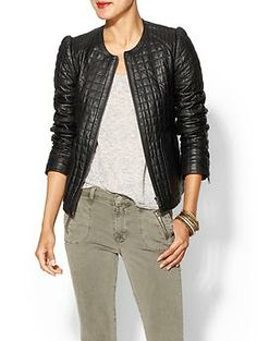 Joie Yetta Leather Jacket   Piperlime