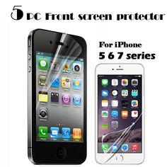 5 pieces hd tinggi clear screen protector untuk iphone 7 6 6 s 6 s ditambah 7 ditambah 5 5 s 5c se layar film pelindung layar penjaga