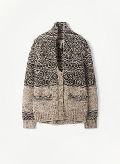 NORD SWEATER - Wilfred Free  $85    A vintage-inspired Fair Isle cardigan knit with a luxe Italian wool and alpaca yarn