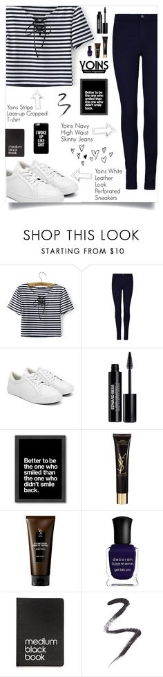"""YOINS #13"" by buflie ❤ liked on Polyvore featuring Edward Bess, Americanflat, Yves Saint Laurent, V76 by Vaughn, Deborah Lippmann, Dinks, Topshop, yoins, yoinscollection and loveyoins"