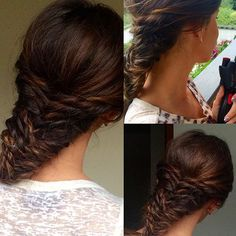 My hairstyle created with Twistsecret from BaByliss Fishtail, Brown Hair, My Photos, Braids, Hairstyle, Photo And Video, Instagram, Fashion, Brown Scene Hair