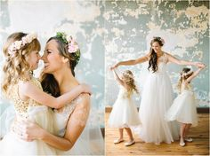 Cute photos of the bride with the flower girls! Wedding at The Standard, Knoxville, TN