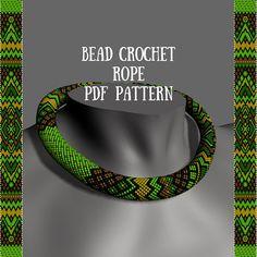 Crochet rope pattern Jewelry pattern Bead crochet necklace