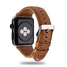 Lederband f�r iWatch Hellbraun Armband aus Leder f�r Apple Watch