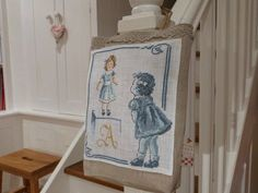 Blog : Douce Campanule.  Broderie, couture, recettes : très joli !!! J'aime beaucoup. A visiter ! Cross Stitching, Cross Stitch Embroidery, Couture, Le Point, Creations, Blog, Vintage, Cross Stitch, Fabric Scraps