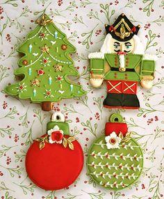 .Christmas cookies in green