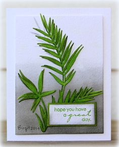 IC442 Green by Biggan - Cards and Paper Crafts at Splitcoaststampers