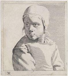 Buste van een kind met muts, Michael Sweerts, 1656