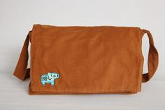 Elephant Love Laptop Messenger Bag by Bullabags on Etsy, $40.00
