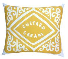 Super-sized Custard Cream Cushions.  I've seen this cushion in Zoella's videos!