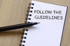 follow guidelines notebook pen shutterstock 347478734