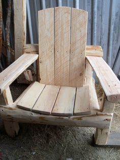 The Grizzly Chair  The Adirondack chair Montana by jgrant0214, $375.00 ((This chair looks so comfortable!))