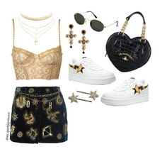 """""""STARYNIGHT"""" by mssparkleprincess ❤ liked on Polyvore featuring Emilio Pucci, Moschino, Ray-Ban, Charlotte Russe, Vivienne Westwood and Dolce&Gabbana"""