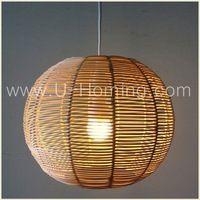 Rotin pendentif abat - jour plafond luminaire suspension en osier naturel Base avec conique ombre canne pendentif lampe - Code Produit : 1430410527 - m.french.alibaba.com