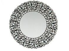 Lustro - Koło 90x90 cm Kryształ.