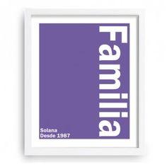 Diseño minimalista con tu apellido familiar y año de inicio - www.miarbolfamiliar.es