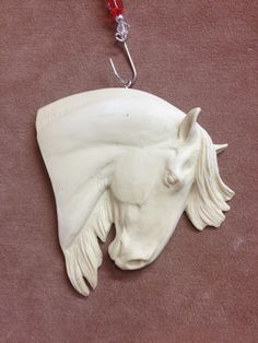 NEW MOLD Original Sculpture Resin Andalusian Horse Christmas Ornament or Magnet. $10.00, via Etsy.