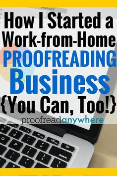 Proofreading reports