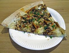homeslice pizza, mushroom slice