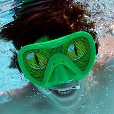 SwimWays Monster Mask - $11.95. Kids swimming mask with a see-through scrim - available in ghoulish green or zombie purple.