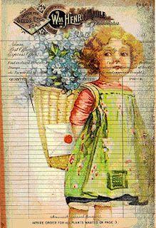 free to print...gorgeous http://estherscardcreations.blogspot.com/2011/12/vintage-postcards.html