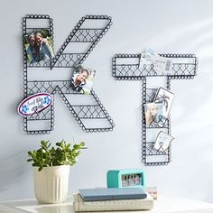 I LOVE these letters because I really enjoy metal/iron wall decorations so this is such a fun way of displaying favorite photos!