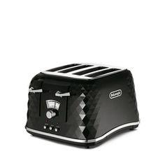 DeLonghi Black brillante 4 slice toaster CTJ4003 | Debenhams