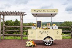 Ice Cream Cart - Food Carts - Bizz On Wheels Vending Solutions Ice Cream Stand, Ice Cream Cart, Gelato, Frozen Desserts, Simple Pleasures, Catering, Branding, Pure Products, Bright Yellow