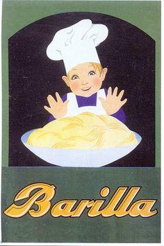Vintage Italian Posters ~ #Italian #vintage #posters ~ postcard - pasta - adv - 1935 by sonobugiardo, via Flickr