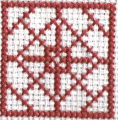 Free Cross Stitch Square Cross Stitch Patterns: Stitched Model of Free Sideways Square Cross Stitch Pattern