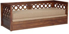 Buy Bogota Sofa Cum Bed with Mattress in Provincial Teak Finish by Woodsworth Online - Solid Wood - Sofa Cum Beds - Pepperfry - Petra Stiegeler - Living Room Home Decor Furniture, Sofa Furniture, Furniture Design, India Home Decor, Wooden Sofa Designs, Sofa Bed Design, Sofa Bed With Storage, Indian Living Rooms, Three Seater Sofa