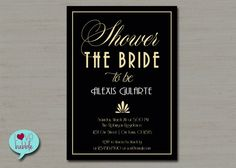 Celebrate in style with this striking art deco invitation! This listing is for a 5X7 invitation in a DIGITAL FILE format. You can upload this design