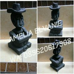 Black  Condition: New   Weight: 600gr  Size: 10cm x 10cm  Height: 23.5cm   Own Production  For Order Cp: +628 9620617908 (Only WA)    #ethnic #STATUE #Hat #blackstatue #Indonesia #indonesianethnic #Culture #Ethnicculture