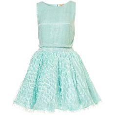 **Sequin Fringe Dress by Dress Up Topshop ($93) ❤ liked on Polyvore featuring dresses, vestidos, short dresses, topshop, topshop dresses, mini dress, green mini dress and fringe cocktail dress
