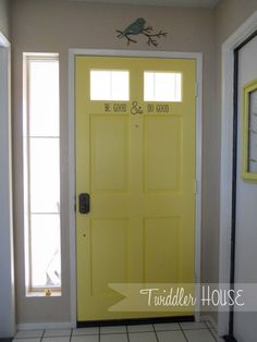 Paint the inside of your front door! @ Twiddler House
