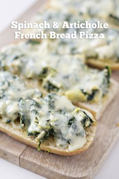 Spinach and Artichoke French Bread Pizza